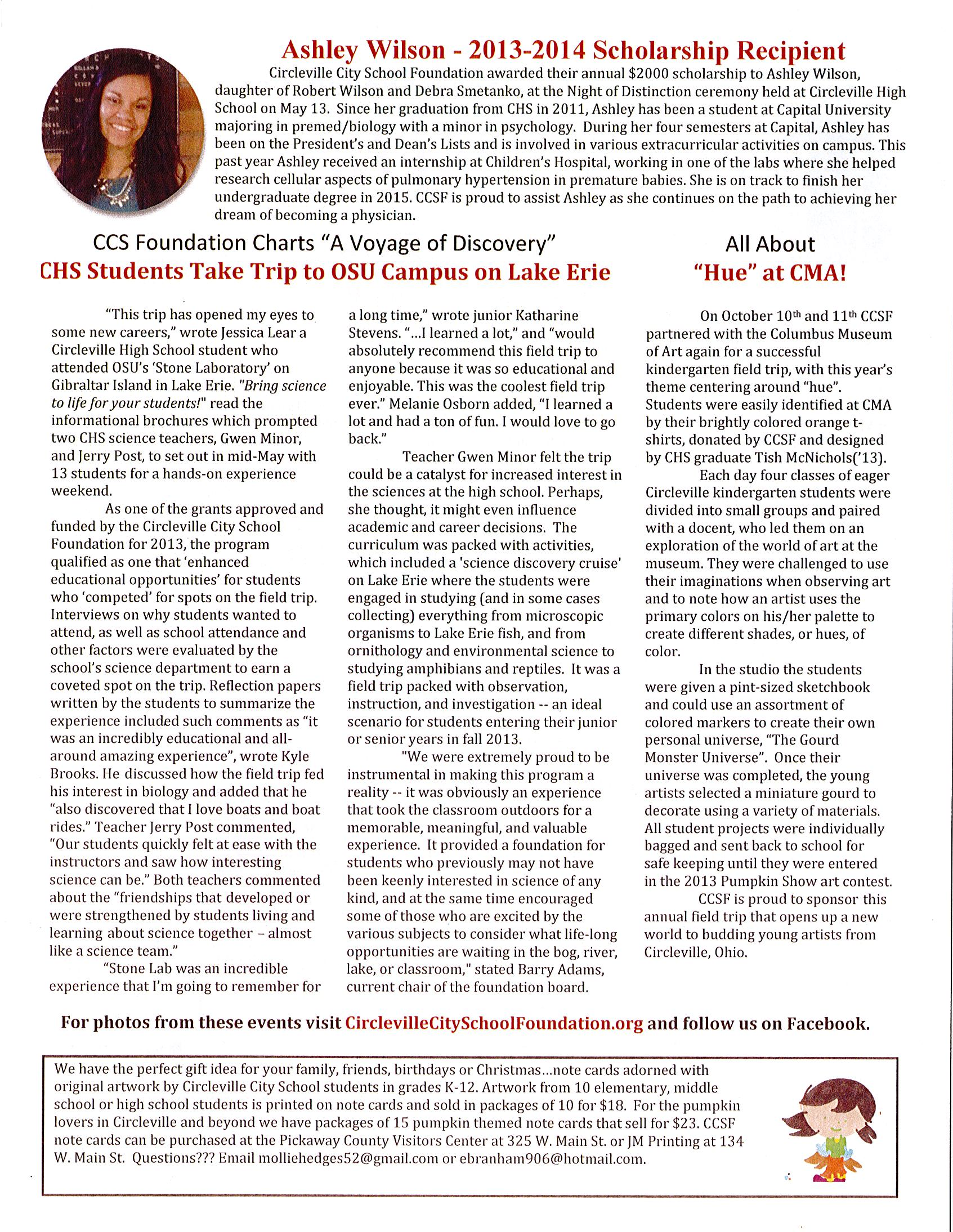 2013 2014 newletter page 2